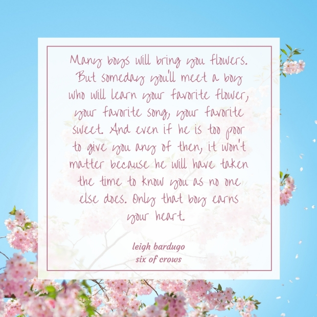 Pink and Blue Flower Illustration Spring Quotes Instagram Post